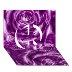 Gorgeous Roses,purple  Peace Sign 3d Greeting Card (7x5)