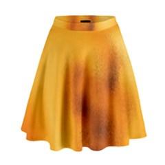 Blurred Glass Effect High Waist Skirt