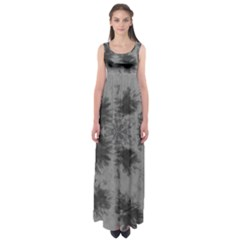 Black Tie Dye Empire Waist Maxi Dress