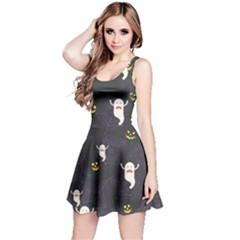 Gray Halloween Reversible Sleeveless Dress