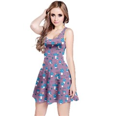 Purple Of Amanita With Snails And Caterpillars Short Sleeve Skater Dress
