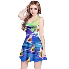 Sharks In Sea Reversible Sleeveless Dress