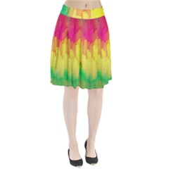 Pastel Shapes Painting        Pleated Skirt