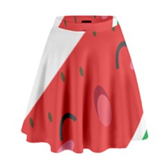 Watermelon Red Network Fruit Juicy High Waist Skirt
