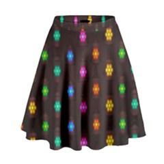 Lanterns Background Lamps Light High Waist Skirt