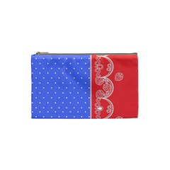 Lace Dots With Rose Purple Cosmetic Bag (small)