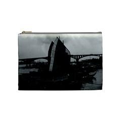 Vintage China Changsha Xiang Jiang River Boat 1970 Medium Makeup Purse