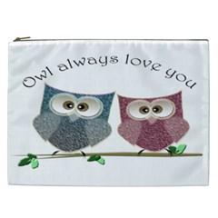 Owl Always Love You, Cute Owls Cosmetic Bag (xxl)