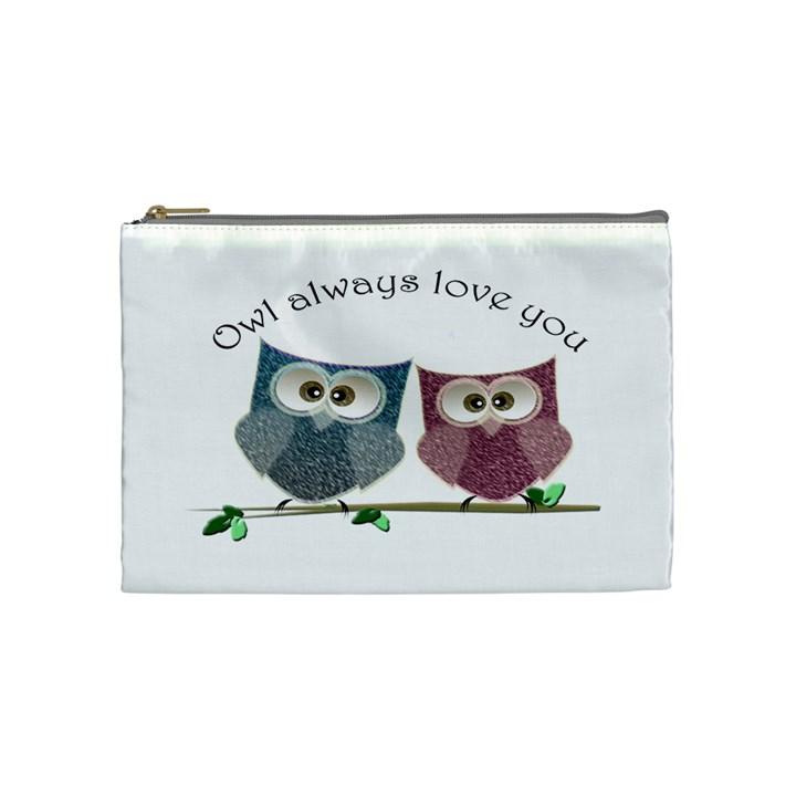Owl always love you, cute Owls Medium Makeup Purse