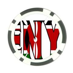 Kenya Poker Chip 10 Pack