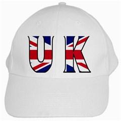Uk White Baseball Cap