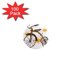 Tree Cycle 1  Mini Button Magnet (100 Pack)