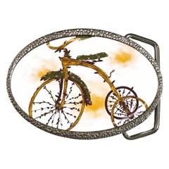 Tree Cycle Belt Buckle (oval)