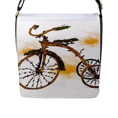 Tree Cycle Flap Closure Messenger Bag (large)