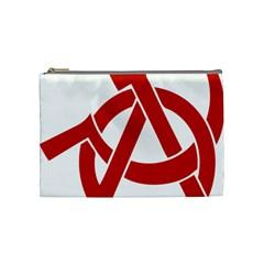 Hammer Sickle Anarchy Cosmetic Bag (medium)