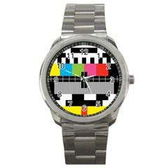 Test Pattern Sport Metal Watch