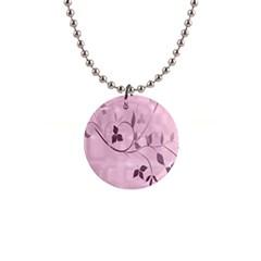 Floral Purple Button Necklace