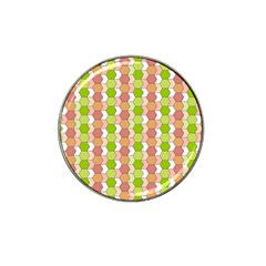 Allover Graphic Red Green Golf Ball Marker 10 Pack (for Hat Clip)