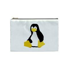 Primitive Linux Tux Penguin Cosmetic Bag (medium)