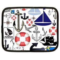Nautical Collage Netbook Sleeve (large)