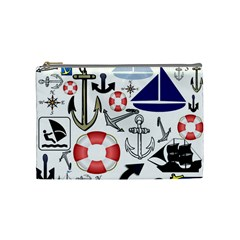 Nautical Collage Cosmetic Bag (medium)