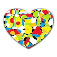 Interlocking Circles Mouse Pad (heart)