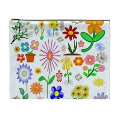 Summer Florals Cosmetic Bag (xl)
