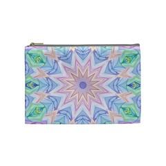 Soft Rainbow Star Mandala Cosmetic Bag (medium)