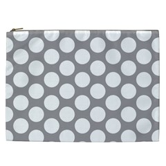 Grey Polkadot Cosmetic Bag (xxl)