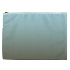 Blue Gold Gradient Cosmetic Bag (xxl)