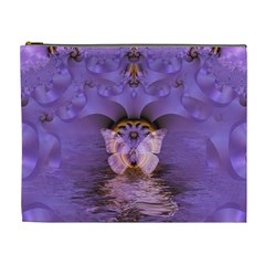 Artsy Purple Awareness Butterfly Cosmetic Bag (xl)