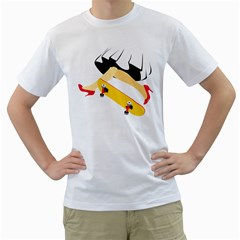 Cinderella Skaters Men s T Shirt (white)