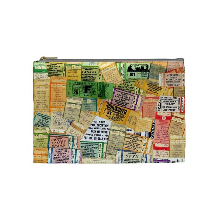Retro Concert Tickets Cosmetic Bag (Medium)