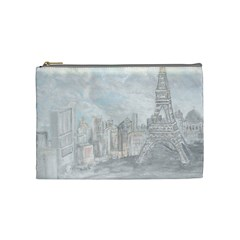 Eiffel Tower Paris Cosmetic Bag (medium)