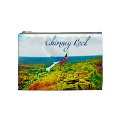 Chimney Rock Overlook Air Brushed Cosmetic Bag (medium)