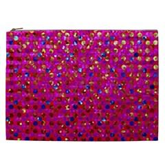 Polka Dot Sparkley Jewels 1 Cosmetic Bag (xxl)