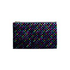 Polka Dot Sparkley Jewels 2 Cosmetic Bag (small)