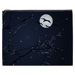 Night Birds And Full Moon Cosmetic Bag (xxxl)