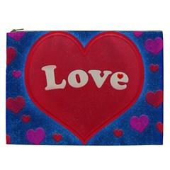 Love Theme Concept  Illustration Motif  Cosmetic Bag (xxl)