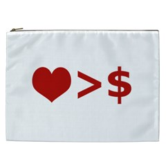 Love Is More Than Money Cosmetic Bag (xxl)