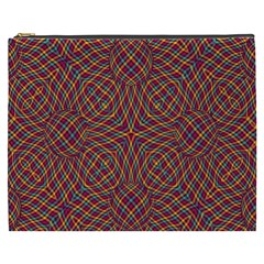 Trippy Tartan Cosmetic Bag (xxxl)