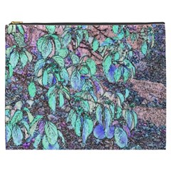 Colored Pencil Tree Leaves Drawing Cosmetic Bag (xxxl)