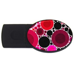 Retro Polka Dot  4gb Usb Flash Drive (oval)