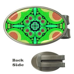 Neon Green  Money Clip (oval)