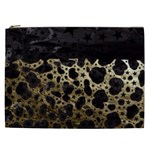 Cheetah Stars Gold  Cosmetic Bag (XXL) Front