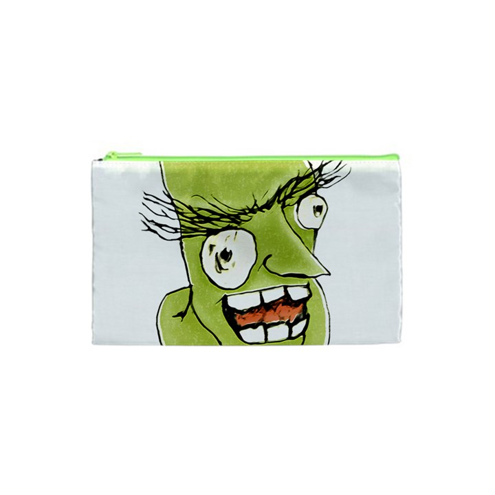 Mad Monster Man with Evil Expression Cosmetic Bag (XS)