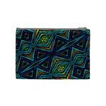 Tribal Style Colorful Geometric Pattern Cosmetic Bag (Medium) Back