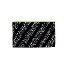 Organic Texture Stripe Pattern Cosmetic Bag (xs)