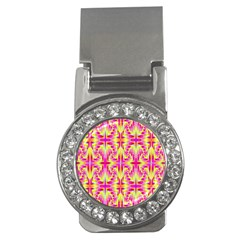 Pink And Yellow Rave Pattern Money Clip (cz)