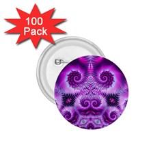 Purple Ecstasy Fractal 1 75  Button (100 Pack)